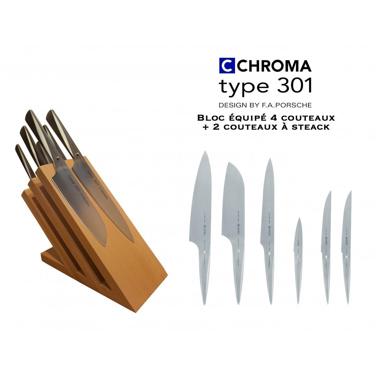 Bloc aimanté tout équipé 4 ctx + 2 ctx steak - Chroma Type 301