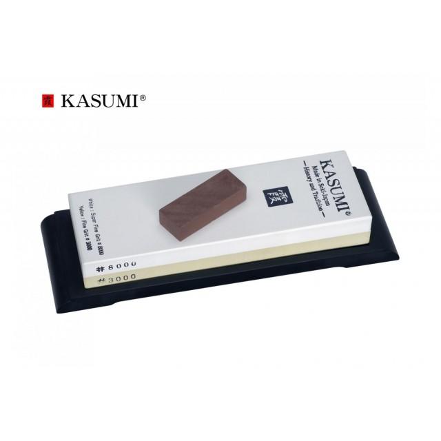 Pierre à aiguiser japonaise Kasumi 3000/8000 + Guides K12L