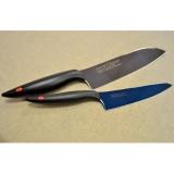 Couteau office petit modèle 8cm - Kasumi Titanium bleu KTB5