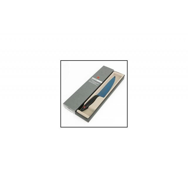 Couteau à découper 20cm - Kasumi Titanium bleu KTB3