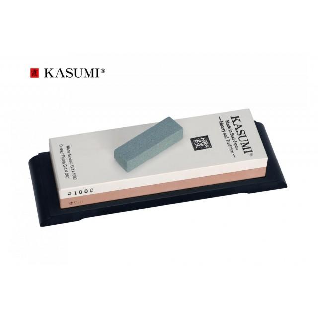Combo pierres à aiguiser japonaises ultimate Kasumi 240/1000/3000/8000 + guides K112-STG