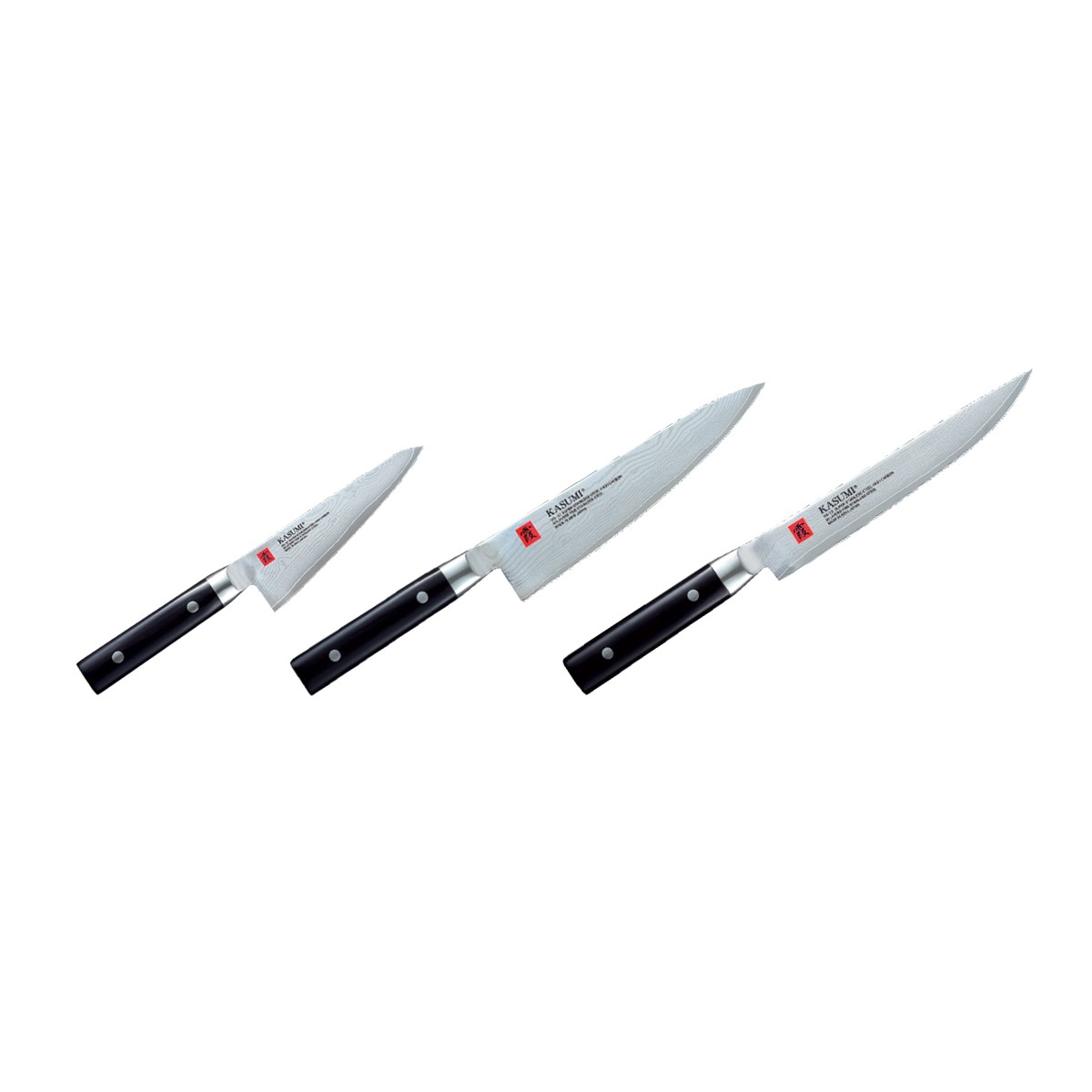 Kasumi Damas Set De 3 Couteaux Japonais De Cuisine Couteau Japonais