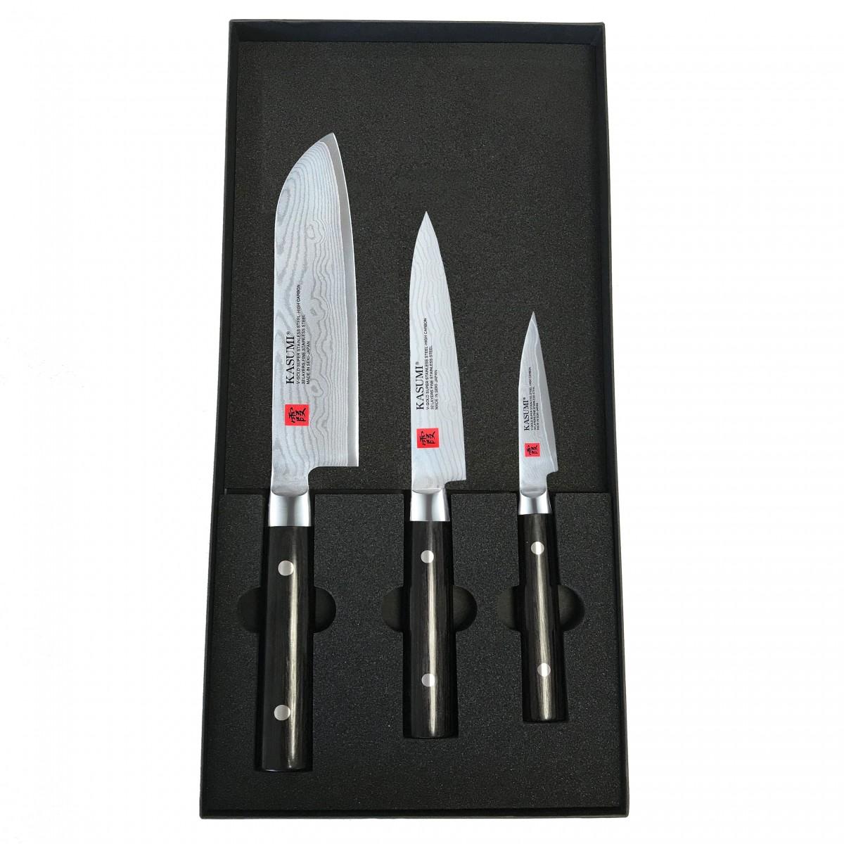 Coffret Kasumi Damas avec couteau Santoku 18 cm